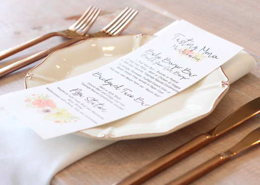 Menu Card, Wedding Tasting, Wedding Menu Card, Menu Card Design