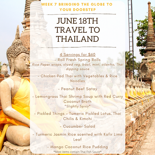 Week 7: Travel to Thailand