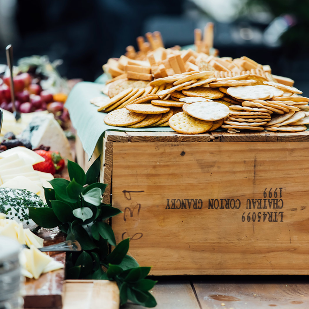 Cheese and Cracker Display