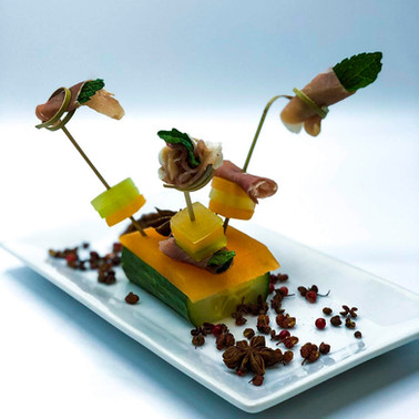 Pressed Melon Terrine with Prosciutto and Mint