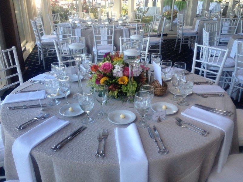 Beige Table Setting