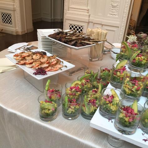Salad and Skewers
