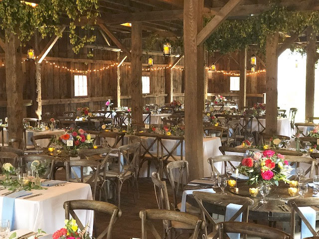 White Linens and Farm Tables