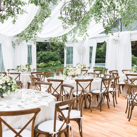 Green and White Wedding, Tented Wedding, Boston Weddings