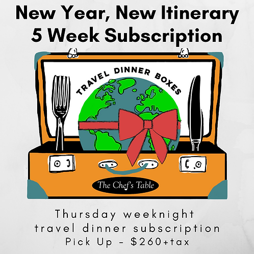5 Week New Year Subscription- Pick Up
