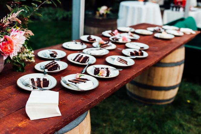 Buffet Wedding Cake
