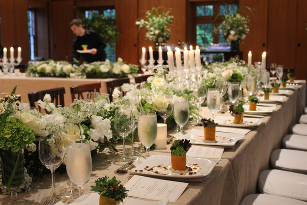 Wrapped Salad, Boston Fundraiser, Candlelight Place3 Setting, Plated Salad Inspo, White Table Setting