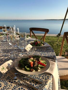 Waterfront Wedding, Custom Linnen, Seaside Wedding, South Shore Wedding,