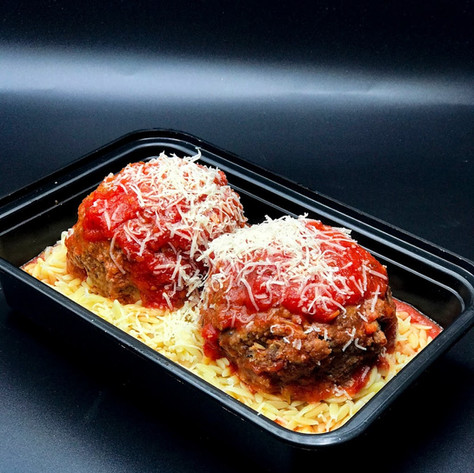 Mega Meatballs! Stuffed w/ Mozzarella Cheese