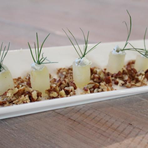 Pressed Bosc Pear w/ Blue Cheese & Walnuts