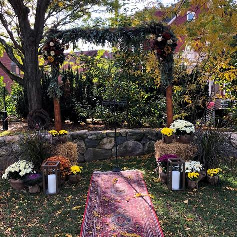 Fall Wedding Ceremony Setup