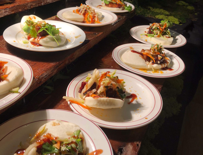 Hoisin Braised Pork Belly Bao Buns w/ Asian Slaw