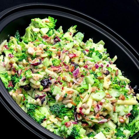 Broccoli Salad w/ Craisins, Prosciutto & Pepitas
