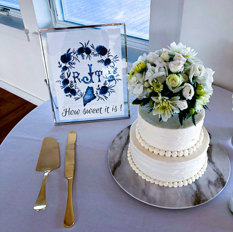 Nautical Wedding, Seaside Wedding, Themed Wedding, South Shore Wedding, Floral Wedding Cake