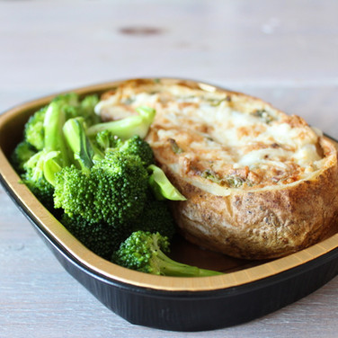 Twice Baked Double Stuffed Potato