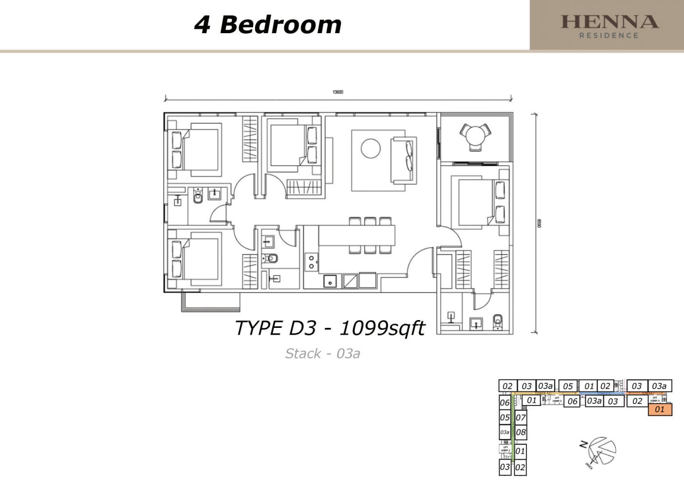 Henna Residence Type D3