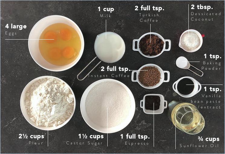 kekperisi coffee cake ingredients by basak ergen