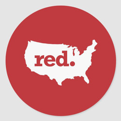 RED STATES STICKERS