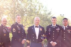 palm springs military wedding photo