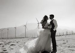 wedding windmills palm springs photo