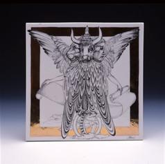 """Dekoratīvs panelis """"Pravieša Ezekiēla vīzija""""  Декоративная панель «Видение Пророка Иезекииля»  Decorative panel """"Vision of the Prophet Ezekiel"""""""