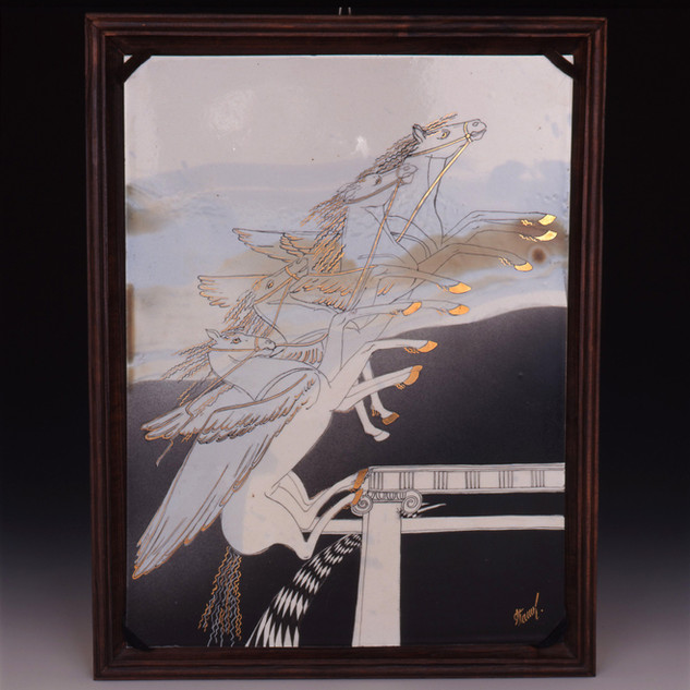 """Dekoratīvs šķīvis """"Mirāžas""""  Декоративная тарелка «Миражи»  Decorative plate """"Mirages"""""""