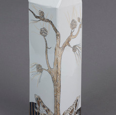 Vāze ar dzērvēm   Ваза с журавлями  Vase with Cranes