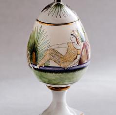 "Vāze-Ola ""Zālamana konkubīnes""  Ваза-Яйцо «Конкубины Соломона»  Vase-Egg ""Salomons` Concubines"""