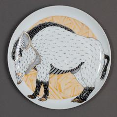 """Dekoratīvs šķīvis """"Mežakuilis""""  Декоративная тарелка """"Кабан""""  Decorative plate """"Wild Boar"""""""