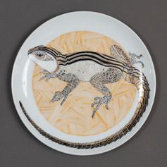 """Dekoratīvs šķīvis """"Ķirzaka""""  Декоративная тарелка """"Ящерица""""  Decorative plate """"Lizard"""""""