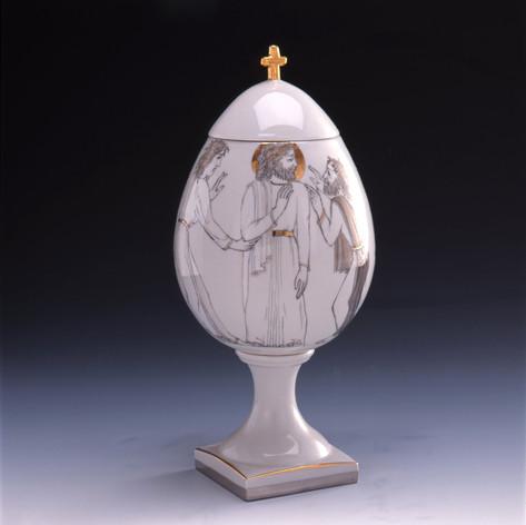 "Vāze-Ola ""Jūdas skūpsts""  Ваза-Яйцо «Поцелуй Иуды»  Vase-Egg ""Kiss of Judah"""