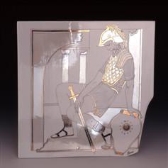 """Dekoratīvs šķīvis """"Dāvids, Virsāvija un Ūrija""""  Декоративная тарелка «Давид, Вирсавия и Урия»  Decorative plate """"David, Bathsheba and Uriah"""""""