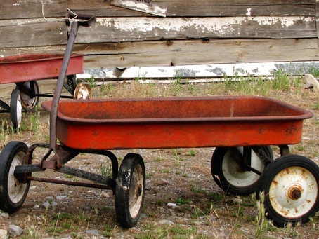 Rust and a Red Wagon