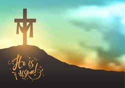 Christian-easter-scene-Saviours-cross-on