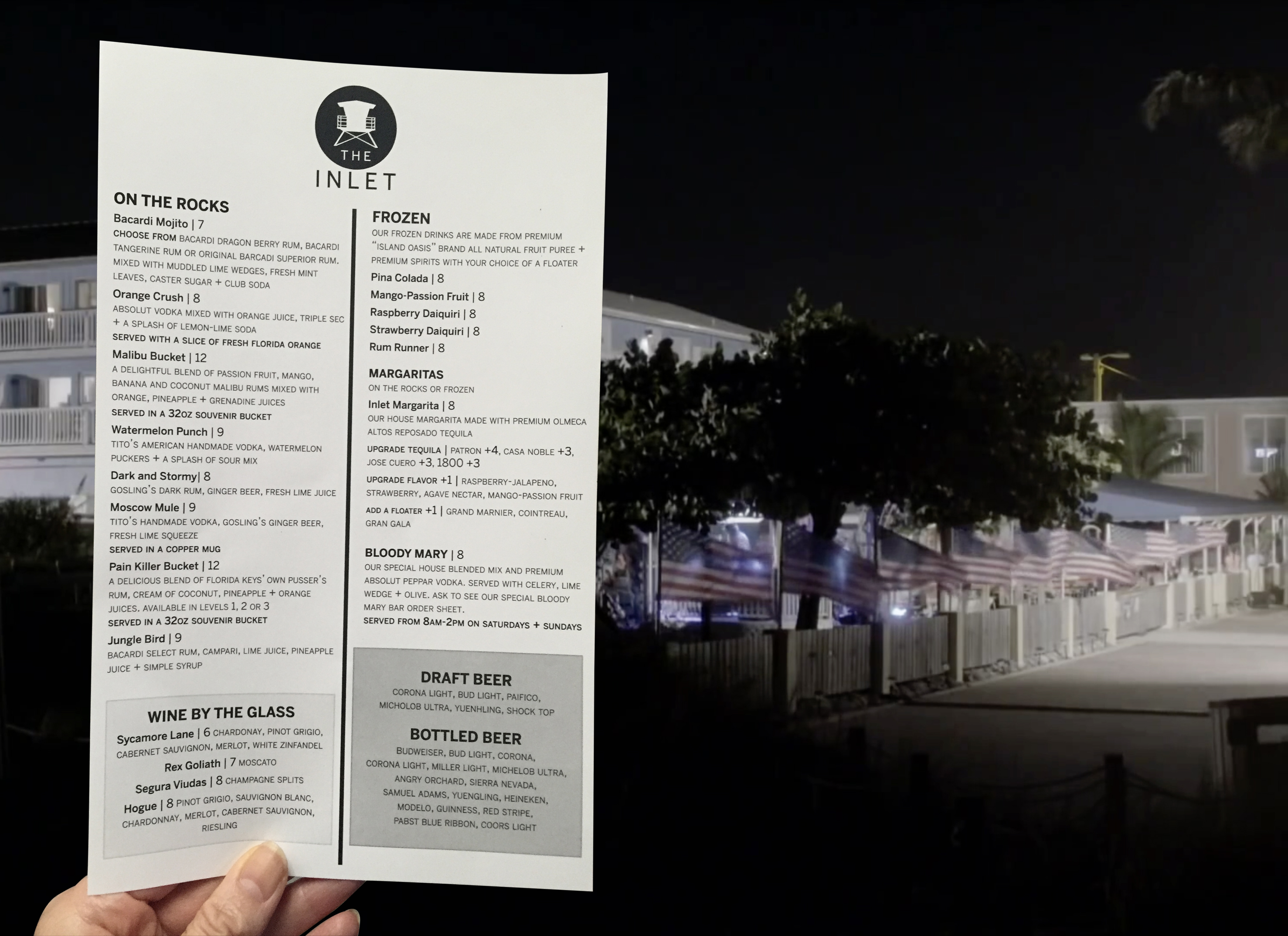 THE INLET_HH_Drinks Menu