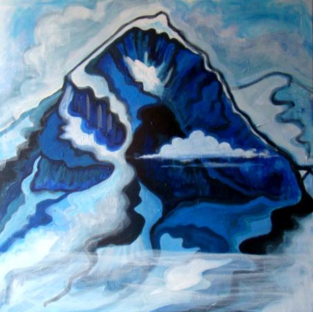 Eiger in blue