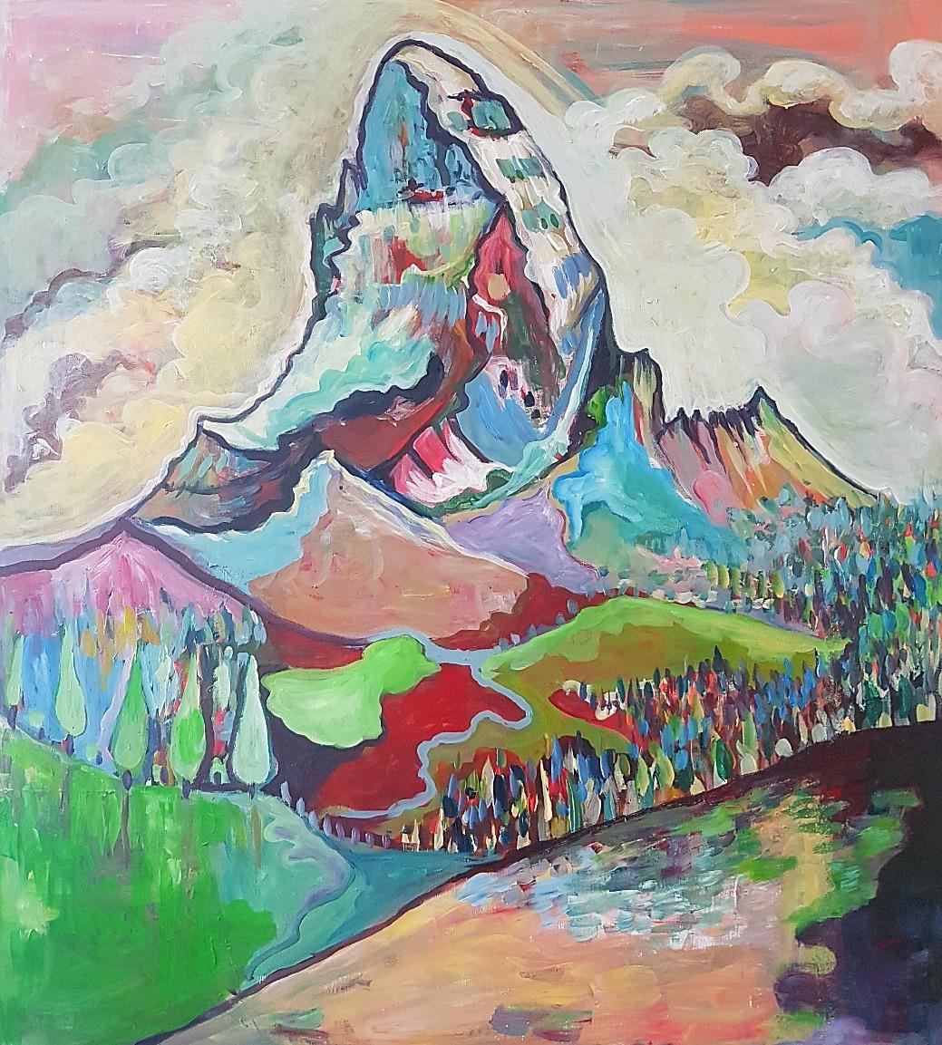 Matterhorn in the pink