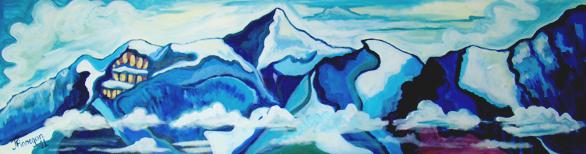 Zürichsee mountain range