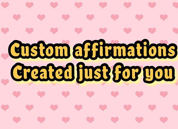 Custom Affirmation Package