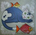 Gato con peces - 2
