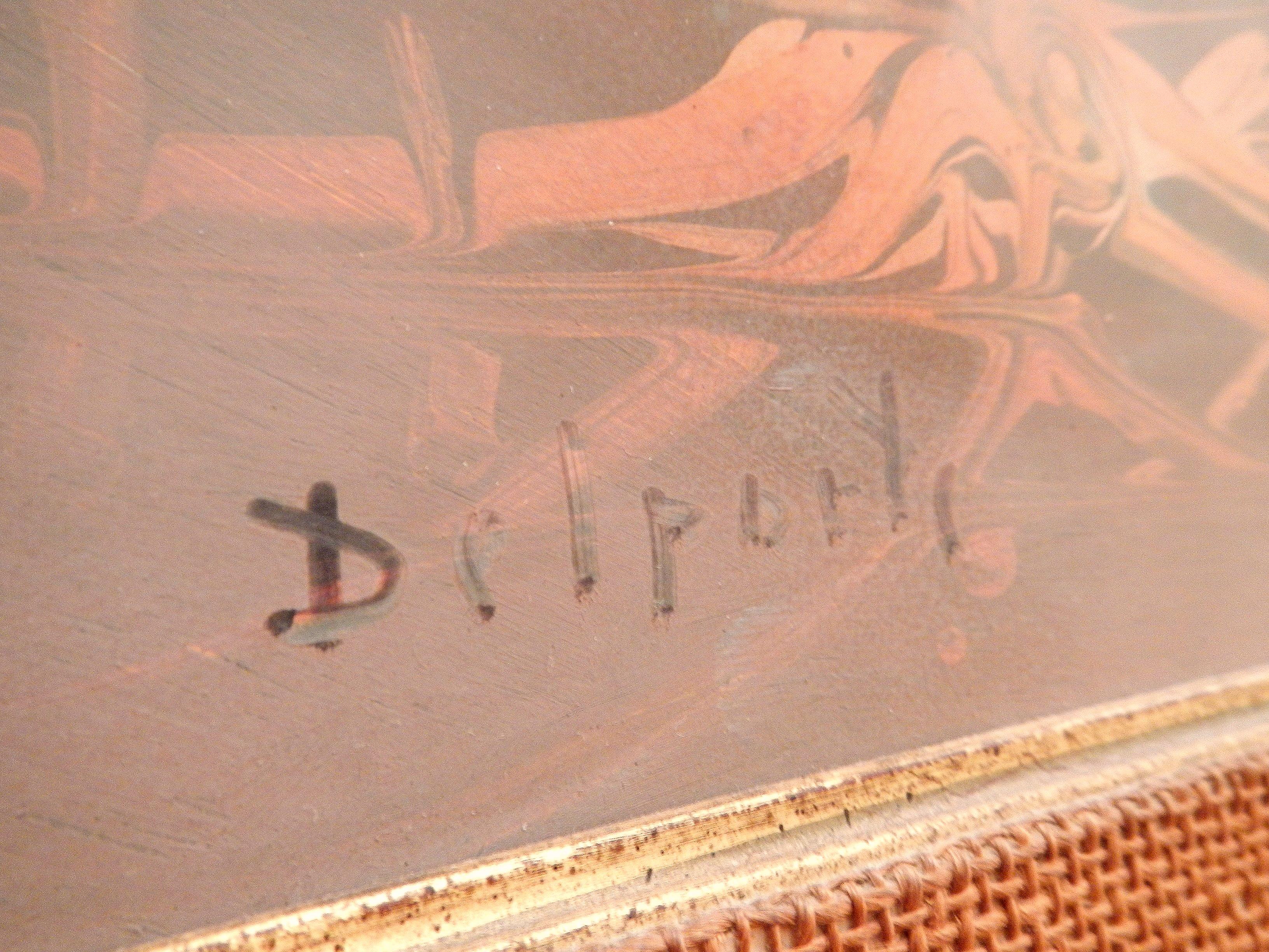 Delporte Charles - Paysage Fantastique - 1976 - signature