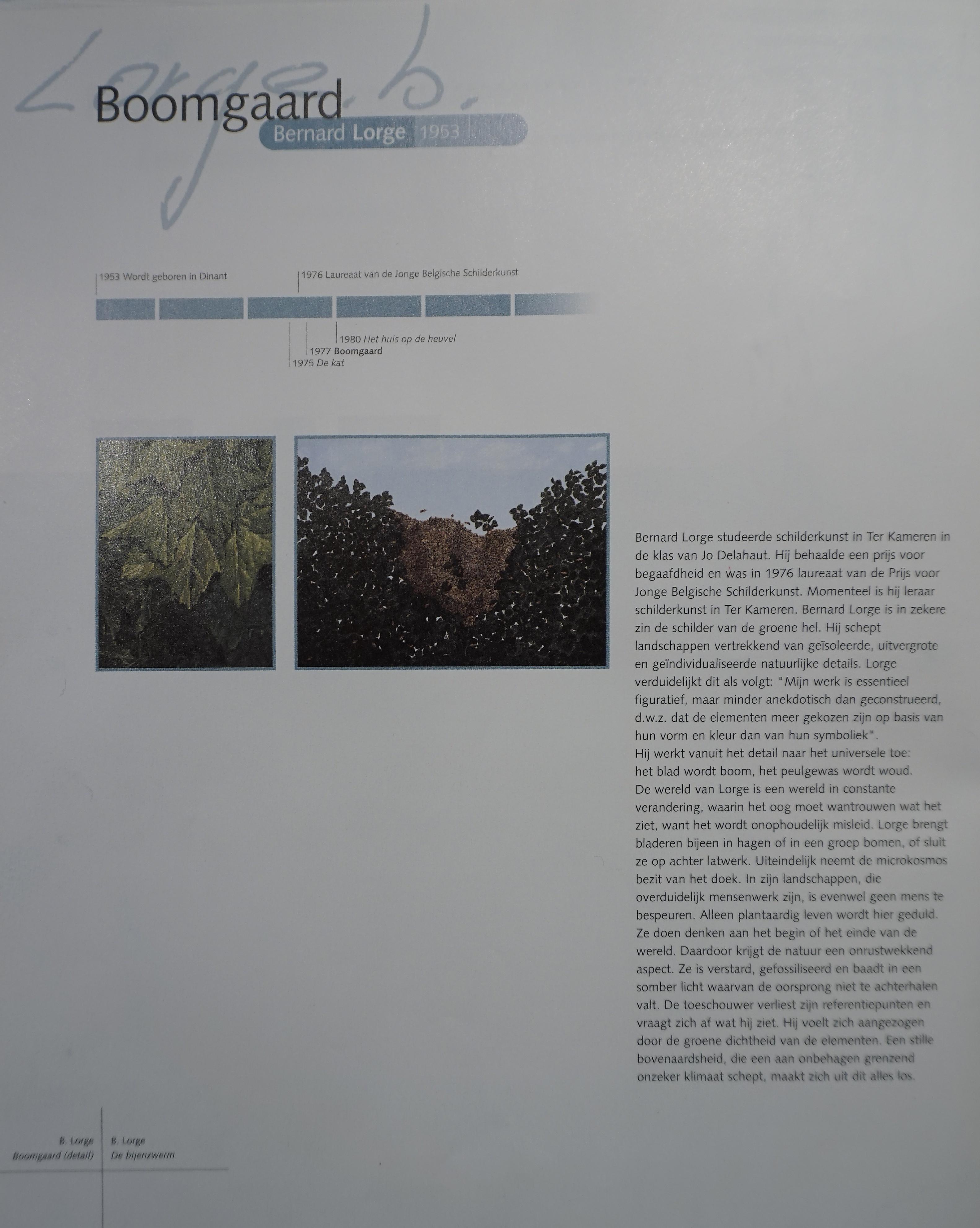 Bernard Lorge - SABAM Belgium 2000 - Monography