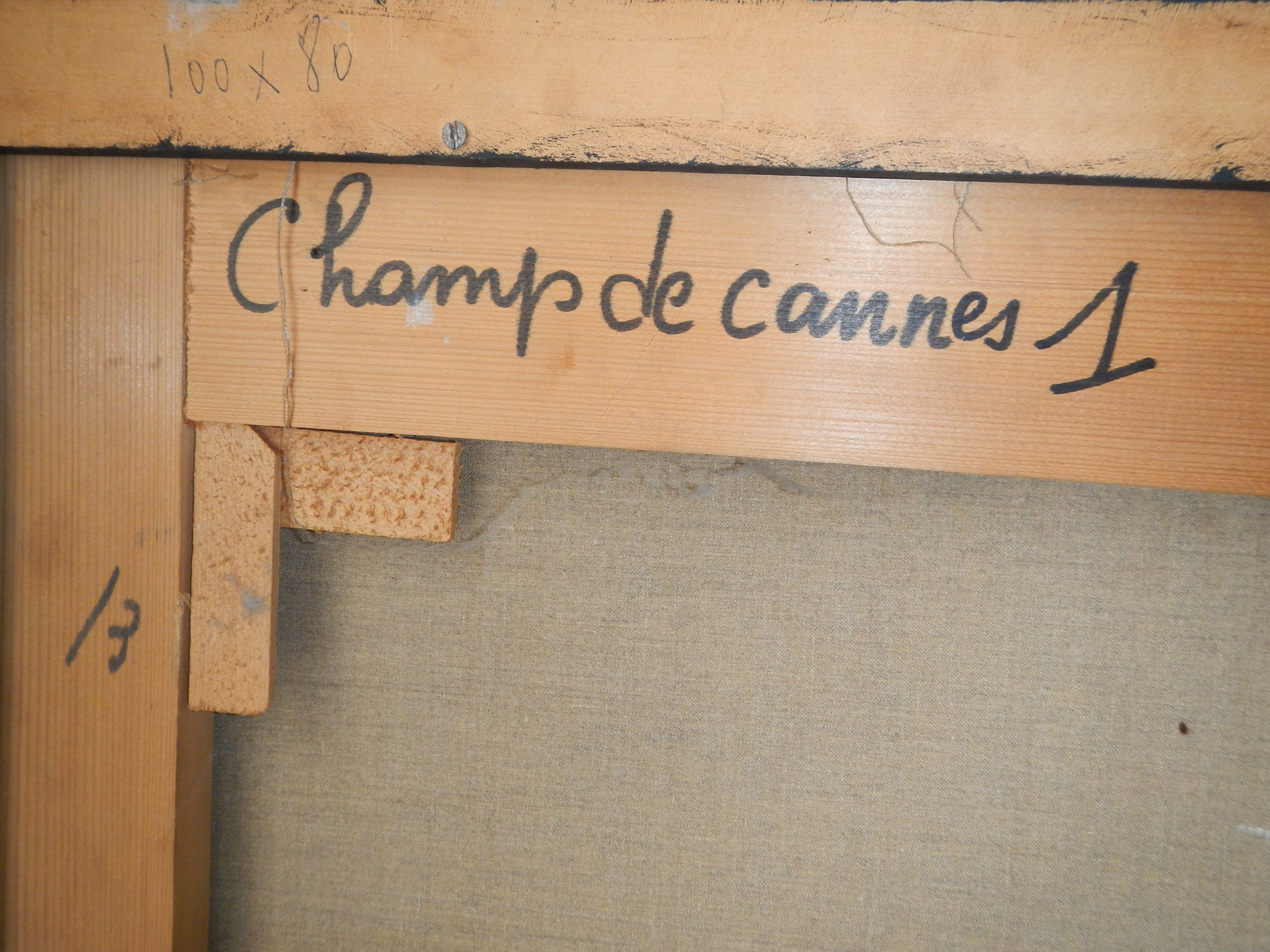 Peverelli Cesare - Champs de cannes - detail back