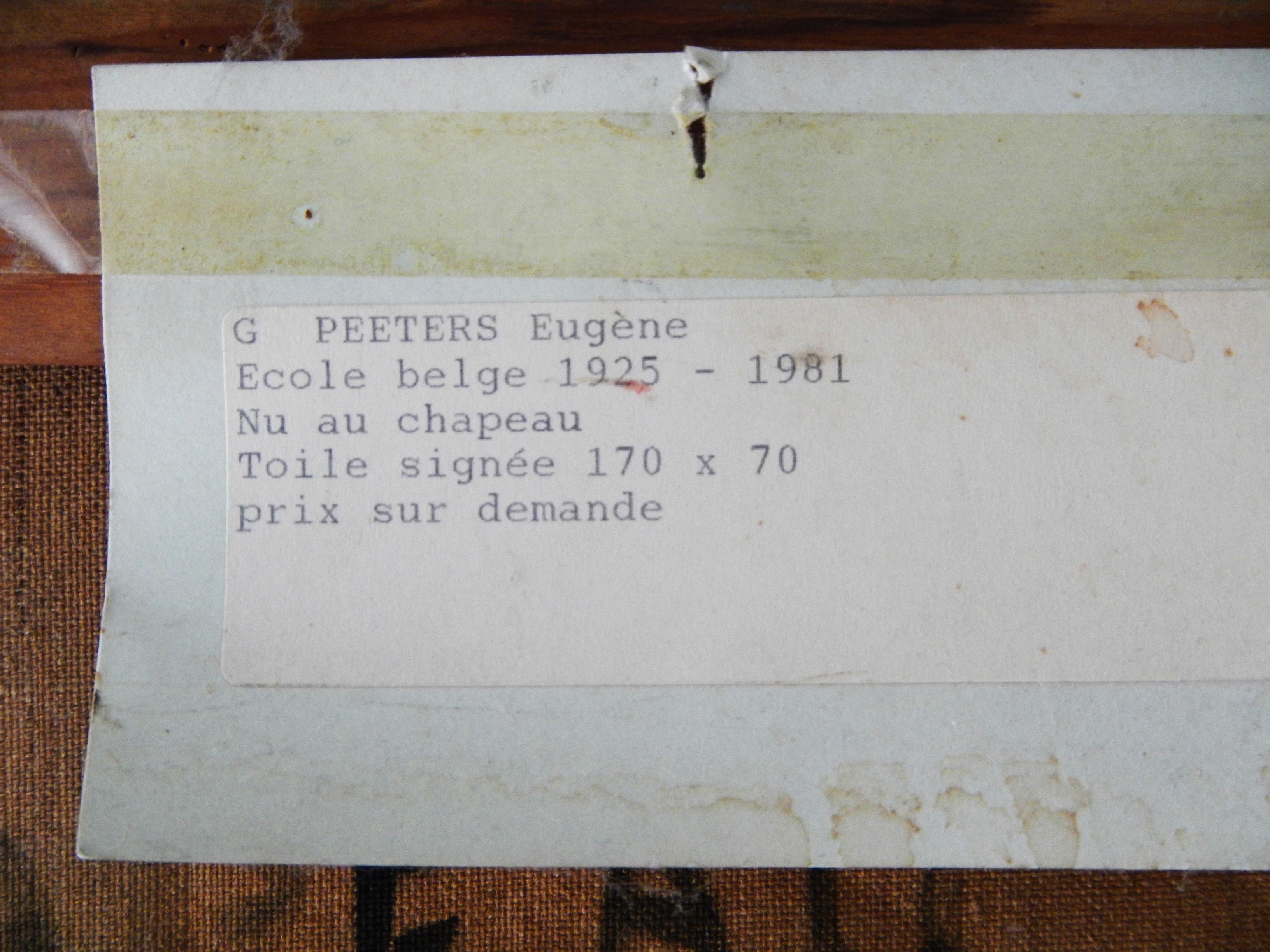 Peeters Eugène - Nu au chapeau