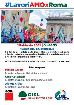 CGIL CISL UIL ROMA LAZIO: #lavoriAMOxROMA