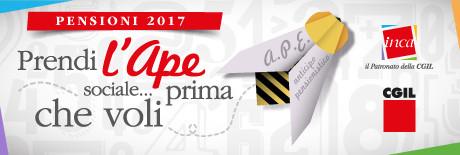 INCA e CGIL: ANTICIPO PENSIONISTICO AGEVOLATO CAMPAGNA DI INFORMAZIONE.