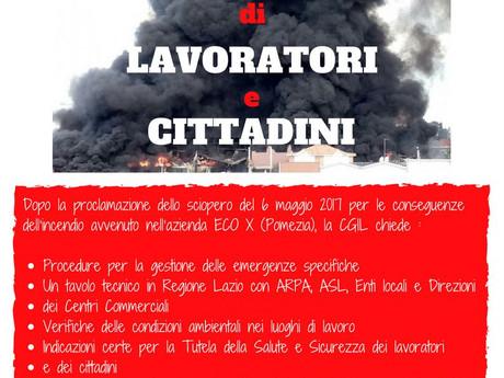 CGIL ROMA COL: INCENDIO POMEZIA INTERVENTI CAOTICI