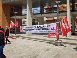 CGIL ROMA COL: A SOSTEGNO DEI LAVORATORI ESTERNALIZZATI, UNIVERSITA' ROMA TRE