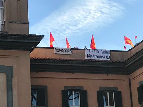 FIOM CGIL  ROMA COL: CONTINUA PROTESTA LAVORATORI STIM OSPEDALE S. CAMILLO