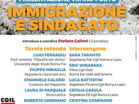 Presentazione 8° rapporto Immigrazione e Sindacato